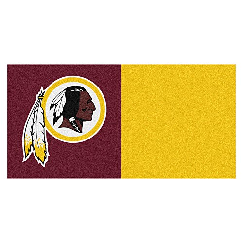 FANMATS NFL Washington Redskins Nylon Face Team Carpet Tiles by Fanmats
