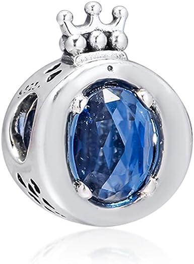 MOCCI 2019 automne bleu mousseux Couronne O perle 925 Argent Bricolage  Convient pour Original Pandora bracelets Charme Bijoux De Mode