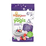 Happy Baby Organic Yogis Freeze-Dried Yogurt & Fruit Snacks Mixed Berry, 1 Ounce Bag Organic Gluten-Free Easy to Chew Probiotic Snacks for Babies & Toddlers