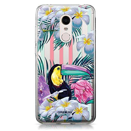 CASEiLIKE Funda Mi A1 , Carcasa Xiaomi Mi A1, Búho diseño gráfico 3318, TPU Gel silicone protectora cover Floral tropical 2240