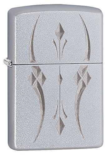 Zippo Pristine Curve Pocket Lighter, Satin Chrome