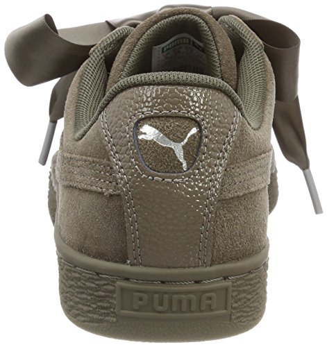 Sneakers Wn's Noir Puma Cord Bubble Basses Cord Suede bungee Heart Marron Femme Bungee qU00fItx