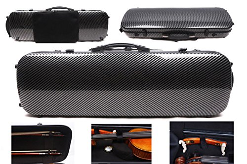 (4/4 New violin Case Carbon fiber Fiberglass Oblong case Strong Light Full size music Sheet Bag (caseb1))