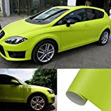 HOHO 1.52Mx18M Whole Car Body Matte Vinyl Wrap Film Self Adhesive Sticker Light Green