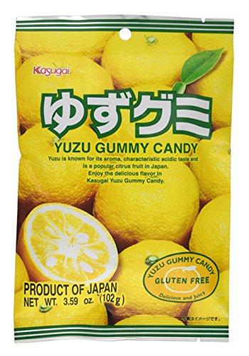 Kasugai Yuzu Gummy Candy 3.59oz (3 Pack)
