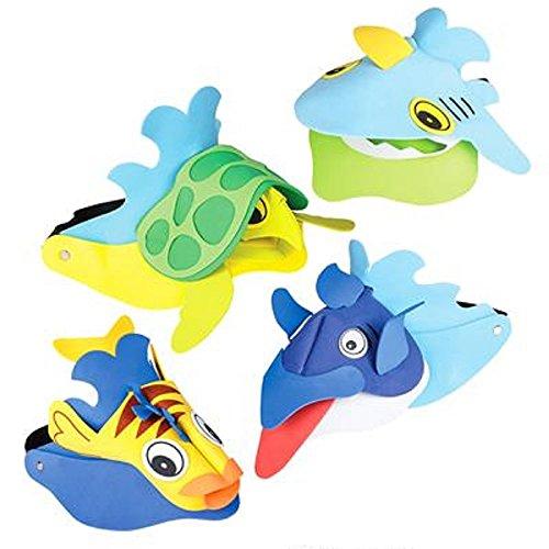1 DOZEN SEA LIFE ANIMAL VISORS ()
