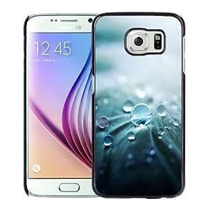 NEW Unique Custom Designed Samsung Galaxy S6 Phone Case With Water Drop Macro Closeup_Black Phone Case Kimberly Kurzendoerfer