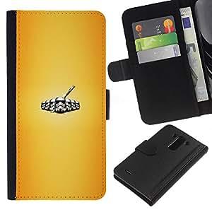 YiPhone /// Tirón de la caja Cartera de cuero con ranuras para tarjetas - Stromtrooper Legión - LG G3