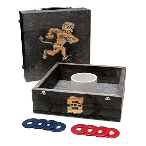 - Victory Tailgate Wisconsin Stout Blue Devils Washer Game Set Onyx Stained