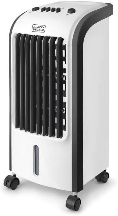 Black+Decker BXAC5E Ventilador humidificador, Plástico, Blanco ...