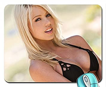 Women Outdoors Digital Desire Magazine Shawna Lenee Mouse Pad10   12 Inches