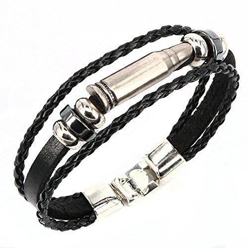 leather bullet bracelet - 7