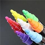 Chronex Chalk Pens - Dustless Chalkpen Blackboard Whiteboard Markers (4-Pack, 2 White, 2 Color) Bullet Tip Patented German Liquid Chalk