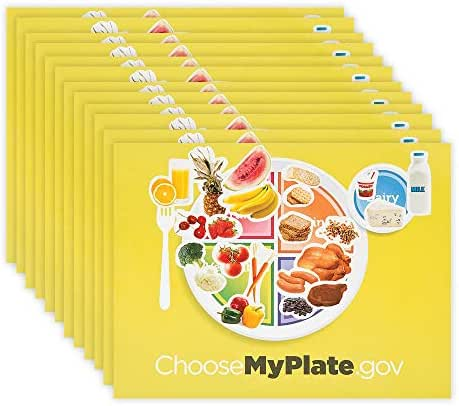 Kicko Make a Plate Sticker - Set of 12 Choose My Plate Stickers Scene for Birthday Treat, Goody Bags, School Activity, Group Projects, Room Decor, Arts and Crafts