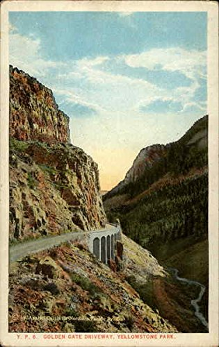 golden-gate-driveway-yellowstone-national-park-wyoming-original-vintage-postcard