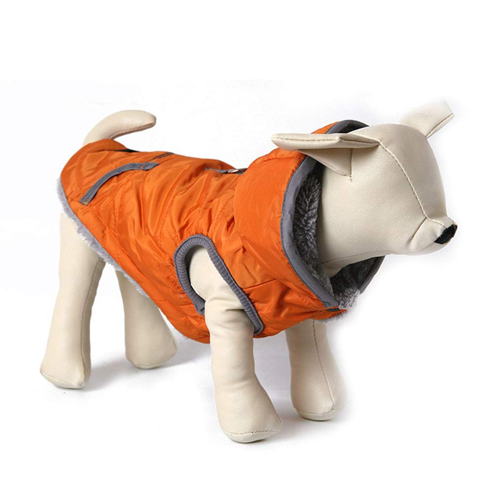 Section a X-Small Section a X-Small ZXCC Autumn And Winter Lined Warm Dog Jacket For Puppy Winter Cold Weather Soft Windproof Small Dog Coat (color   Section A, Size   XS)