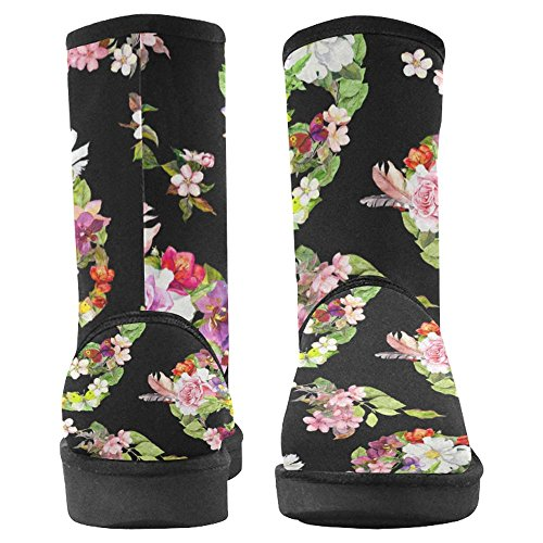 InterestPrint Womens Snow Boots Unique Designed Comfort Winter Boots Multi 7 5GF0cWFO