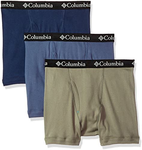 Columbia Mens 100/% Pure Cotton 3 Pk Boxer Brief