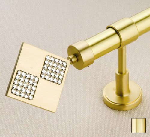 WinarT USA 8.1035.25.04.280 Hera 1035 Curtain Rod Set - 1 in. - Polished Brass - 110 in.   B00DHPAJSS