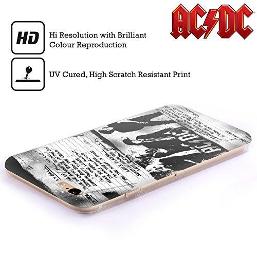 Officiel AC/DC ACDC Jouer Au Ballon Paroles Étui Coque en Gel molle pour Apple iPhone 5 / 5s / SE