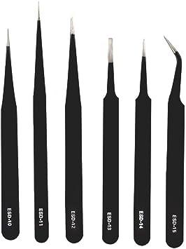 herramienta para coger clavos Pinzas curvadas de acero inoxidable con dise/ño de arco/íris