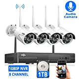 [Expandable 8CH]Wireless Security Camera...