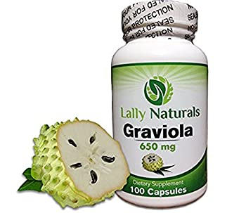 Pure Graviola Extract Supplement 650mg (100 Count) ★ Soursop (Annona muricata) ★ Boosts Immune System ★ Antioxidants ★ Each capsule contains 650 mg of pure graviola powder sourced from graviola leaves
