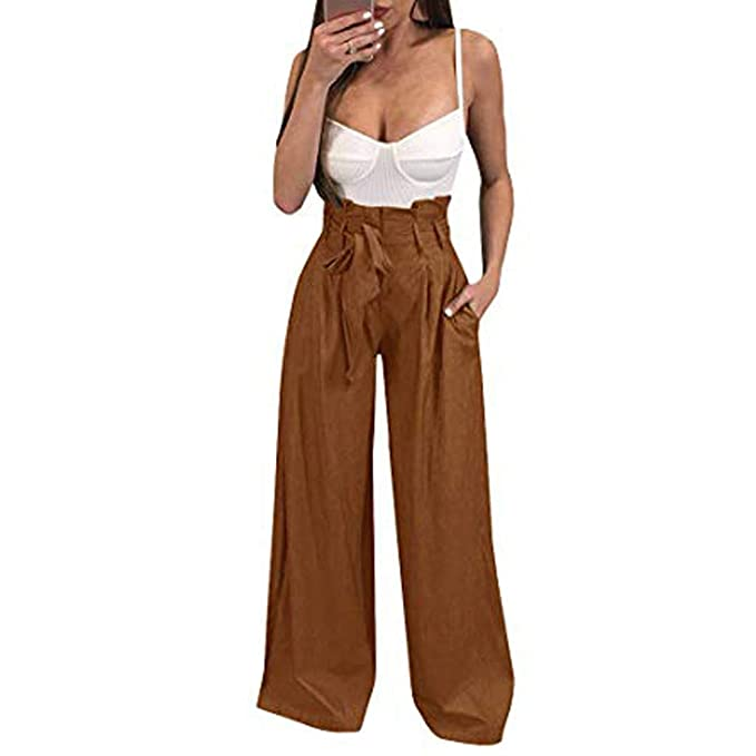Amazon.com: CCatyam Plus Size Wide Leg Pants for Women, Yoga ...