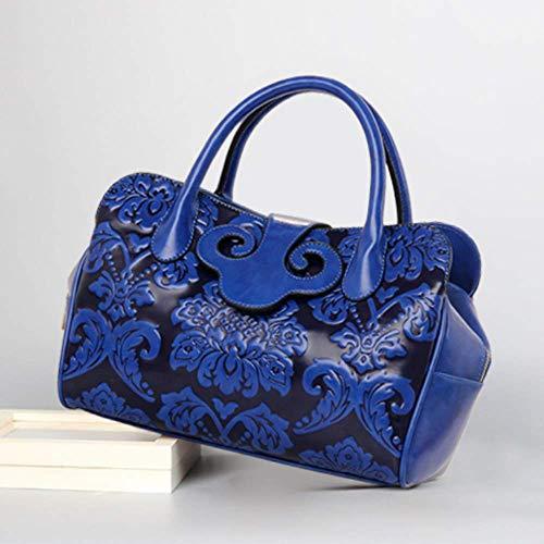 span à Seul 22 Blue pour 16 cm 33 Main Defect gaufrage Oblique Carré Sac Femme Sac Gros C4zfx58