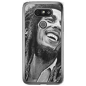 Loud Universe LG G5 Bob Marle Printed Transparent Edge Case - Grey