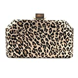 Women Clutch Bag, Leopard Print Dinner Party Clutch Bag Shoulder Banquet Evening Bag for Party Wedding Prom Cocktail and Formal Occasions,A