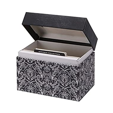 C.R. Gibson Recipe File Box with Cards, Savory Eats