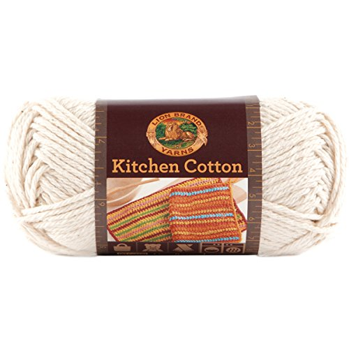 (Lion Brand Yarn 831-098 Kitchen Cotton Yarn, Vanilla)