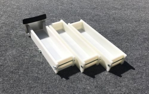Lot of 2 HDPE Soap Loaf Making Mold and Single Slot Soap Cutter 4 - 5 lb ea mold by GDD (Image #1)