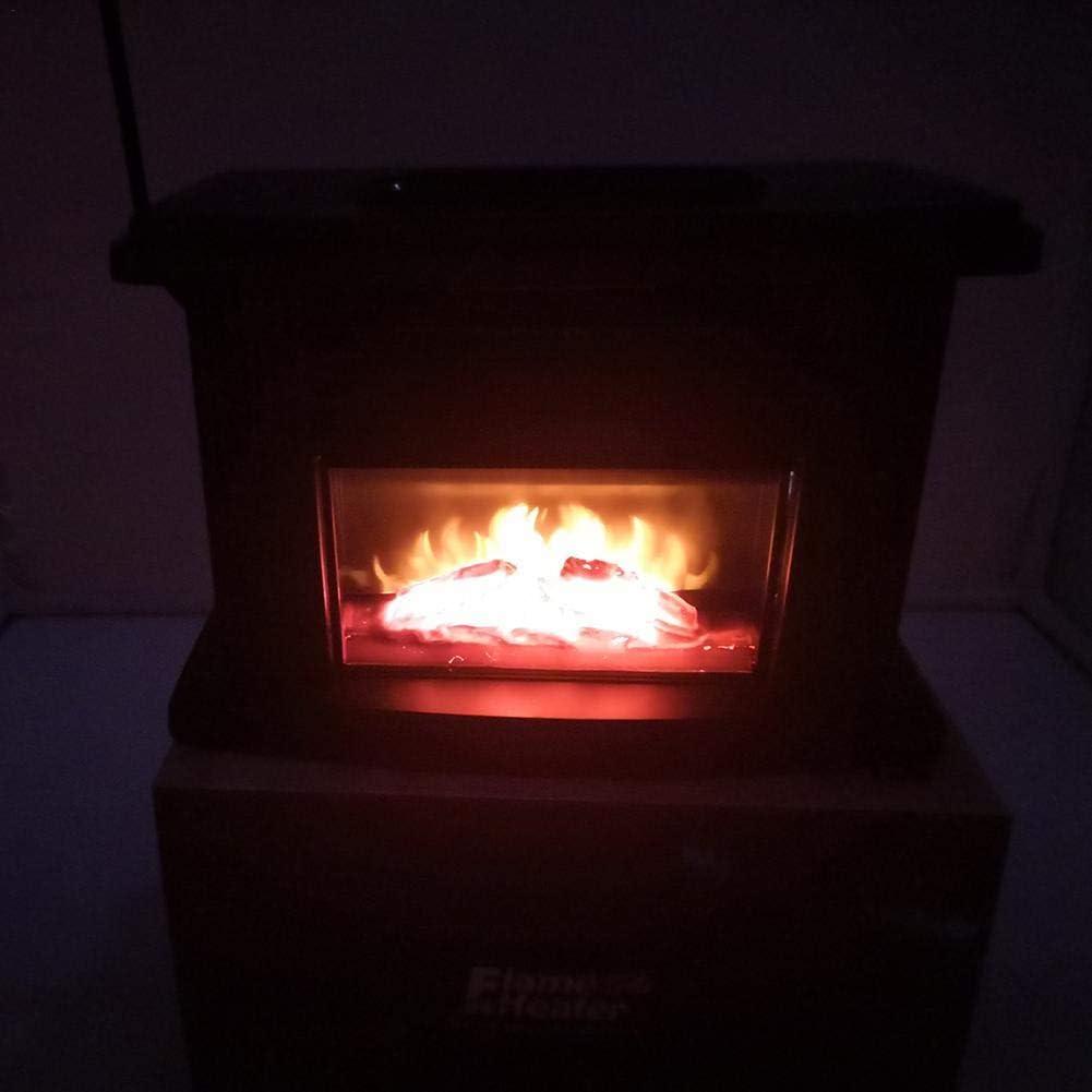 8.8X5X5.7 Pouces M/étal Noir Gereton Chemin/ée /Électrique /À Effet De Flamme,Chauffe-Table Portable 1000W