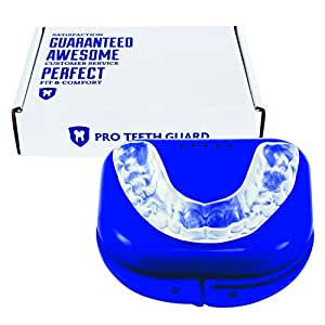 Custom Dental Night Guard for Teeth Grinding - Pro Teeth Guard. 110% Money Back Guarantee. Size: Adult-Male.