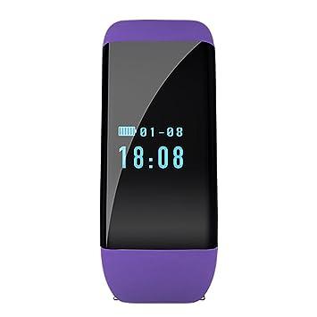 Monitor de frecuencia cardíaca D21 Pulsera inteligente Reloj despertador de natación Contador de pasos Mensaje de llamada Recordatorio Smartband: Amazon.es: ...