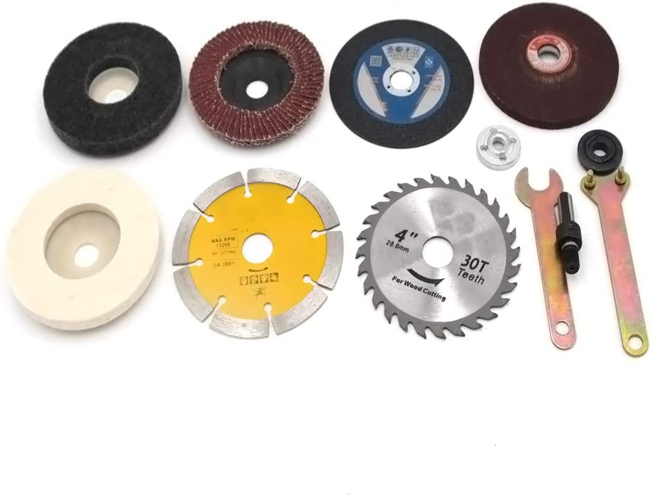 Chiloskit 10 pezzi trapano elettrico cambio a smerigliatrice angolare kit di accessori per la lavorazione del legno accessori di conversione con rotella Cuttoff