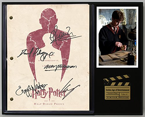 "Harry Potter The Half Blood Prince Limited Edition Reproduction Movie Script Cinema Display""C3"""