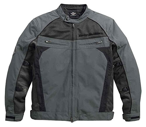Harley-Davidson Men's Utilitarian Textile & Mesh Riding Jacket 97124-16VM (M) Black ()
