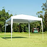 charaHOME 10 x 10 Canopy Tent Pop Up Portable Shade Instant Heavy Duty Outdoor Gazebo White Canopy Tent with Carry Bag for Outdoor Party Wedding Commercial Activity Pavilion BBQ Beach Car Shelter