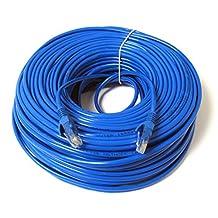 Konex (TM) Ethernet Cable, CAT5e - 100 ft Blue (LAN hardware) EIA568 Patch Cable, RJ45 / RJ45 100' Blue for 10 Base-T, 100 Base-T