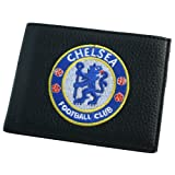 Chelsea Football Club Official Soccer Gift Embroidered Wallet Black