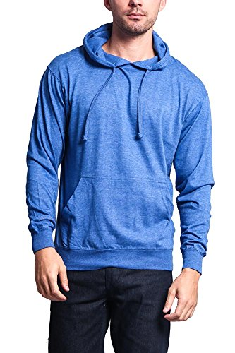 (G-Style USA Cross-Dyed Heather Jersey Pullover Hoodie MH13104 - Heather Royal - 2X-Large -)