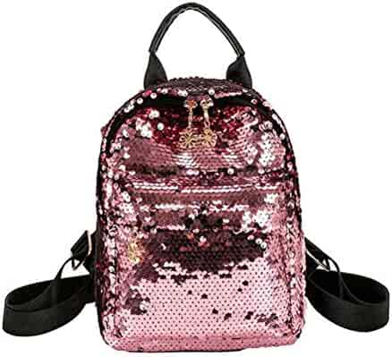 713a0f5d75 Santwo Women s Mini Rivets Waterproof PU Leather Shoulder Bag Casual  Daypack Backpack (B-pink