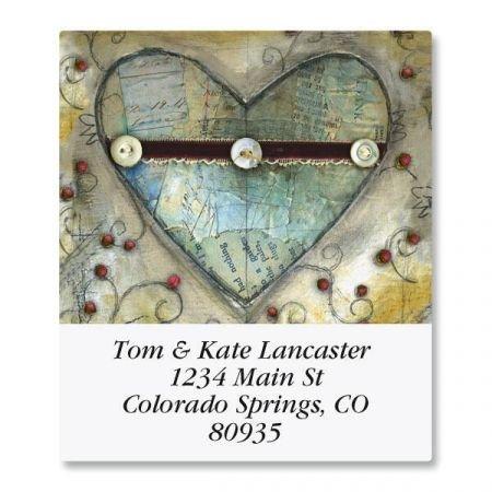 Hearts Return Address Labels - 8