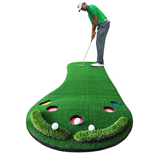 Golf Putting Green By New Brand PGM,3.28FTX9.84FT,Premium EVA Backing Allows Roll Up, No Creases, More Holes by PGM