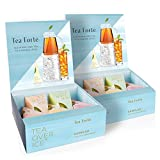 Tea Forte TEA OVER ICE Sampler, Pitcher-Size Iced Tea Infusers - Black Tea, Green Tea, Herbal Tea, White Tea, 5pk Box (Pack of 2)