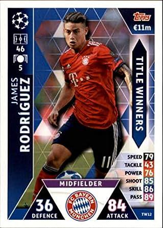 dcec4e555 2018-19 Topps UEFA Champions League Match Attax Title Winners  TW12 James  Rodriguez FC