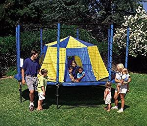 JumpSport BigTop Trampoline Tent | Giant Size 11' Across, 5.5' Tall | No-Pole Safety Design | Trampoline Bounce House or Have a Backyard Campout